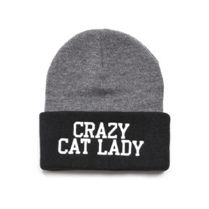 crazy cat lady beanie
